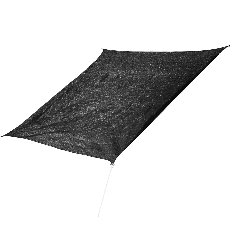 corasol cor10sq5 bk premium sonnensegel 5x5m quadratisch. Black Bedroom Furniture Sets. Home Design Ideas